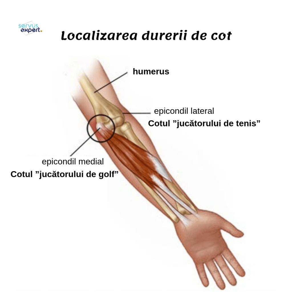 Durere de flexie în articulația cotului stâng