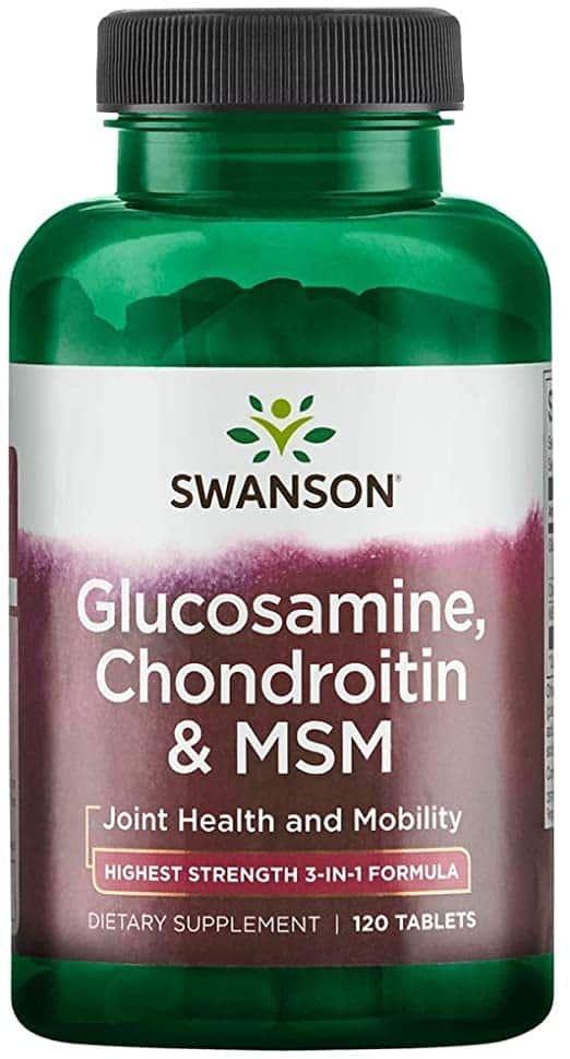 Glucozamină MSM și Condroitină cu vitamina C, 90 tablete, Natures Aid