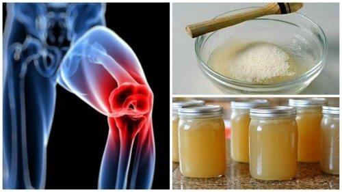 gelatină în tratamentul durerilor articulare