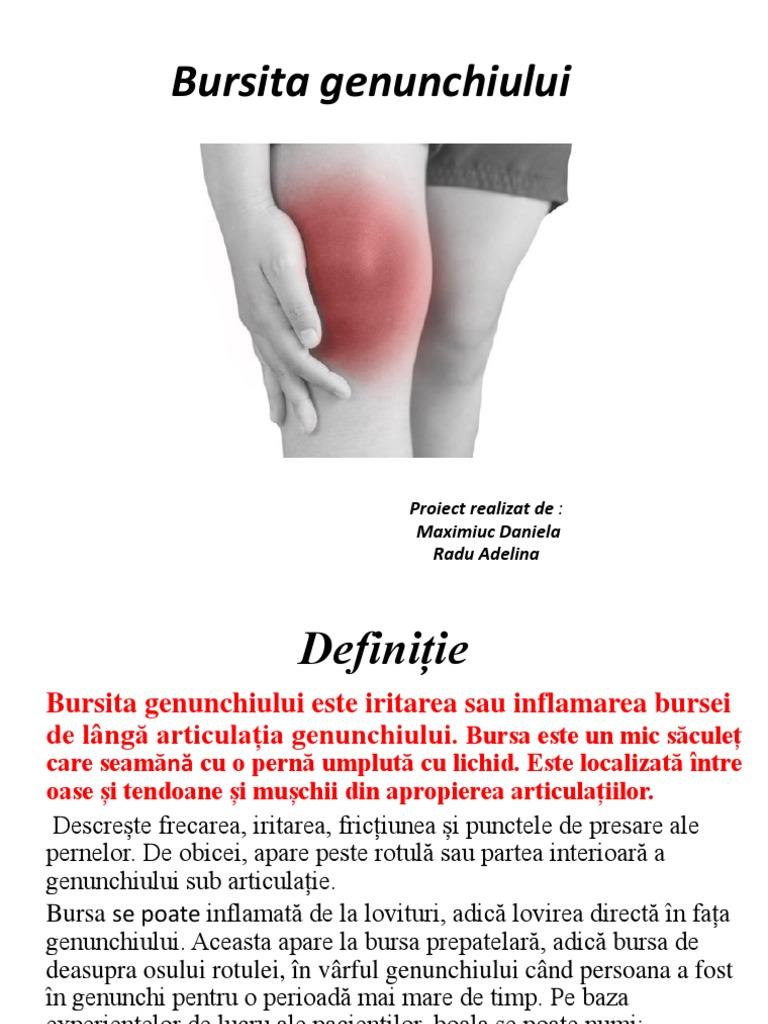 tratamentul bursitei prepatelare a genunchiului